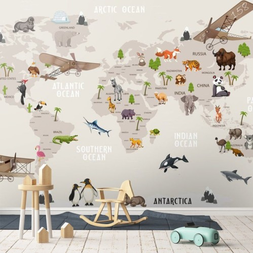 """Wallpaper """"Map of the World"""""""